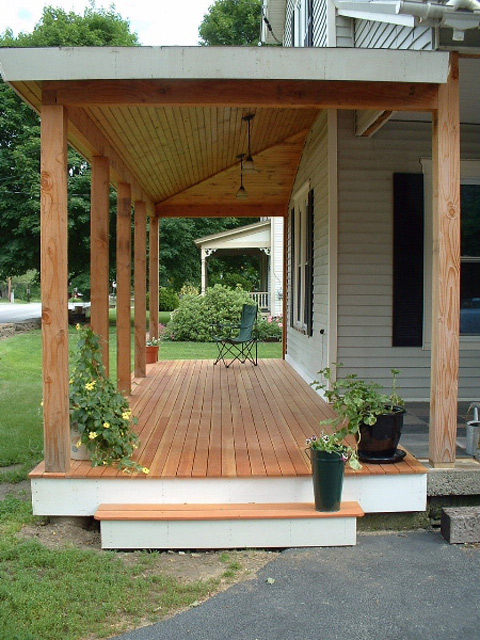 Open porch vermont carpentry designs Open porches